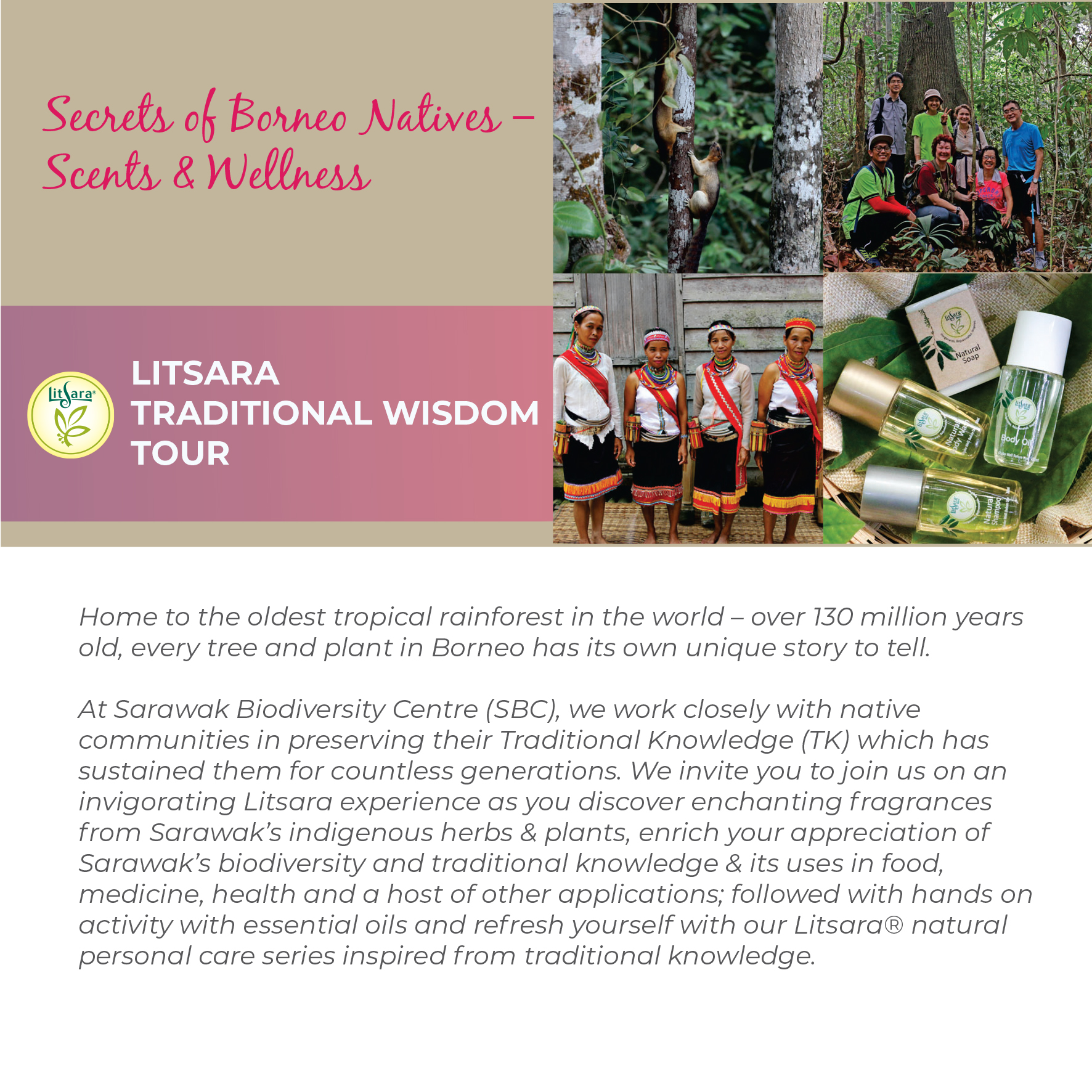 LitSara Traditional Wisdom Tour Leaflet