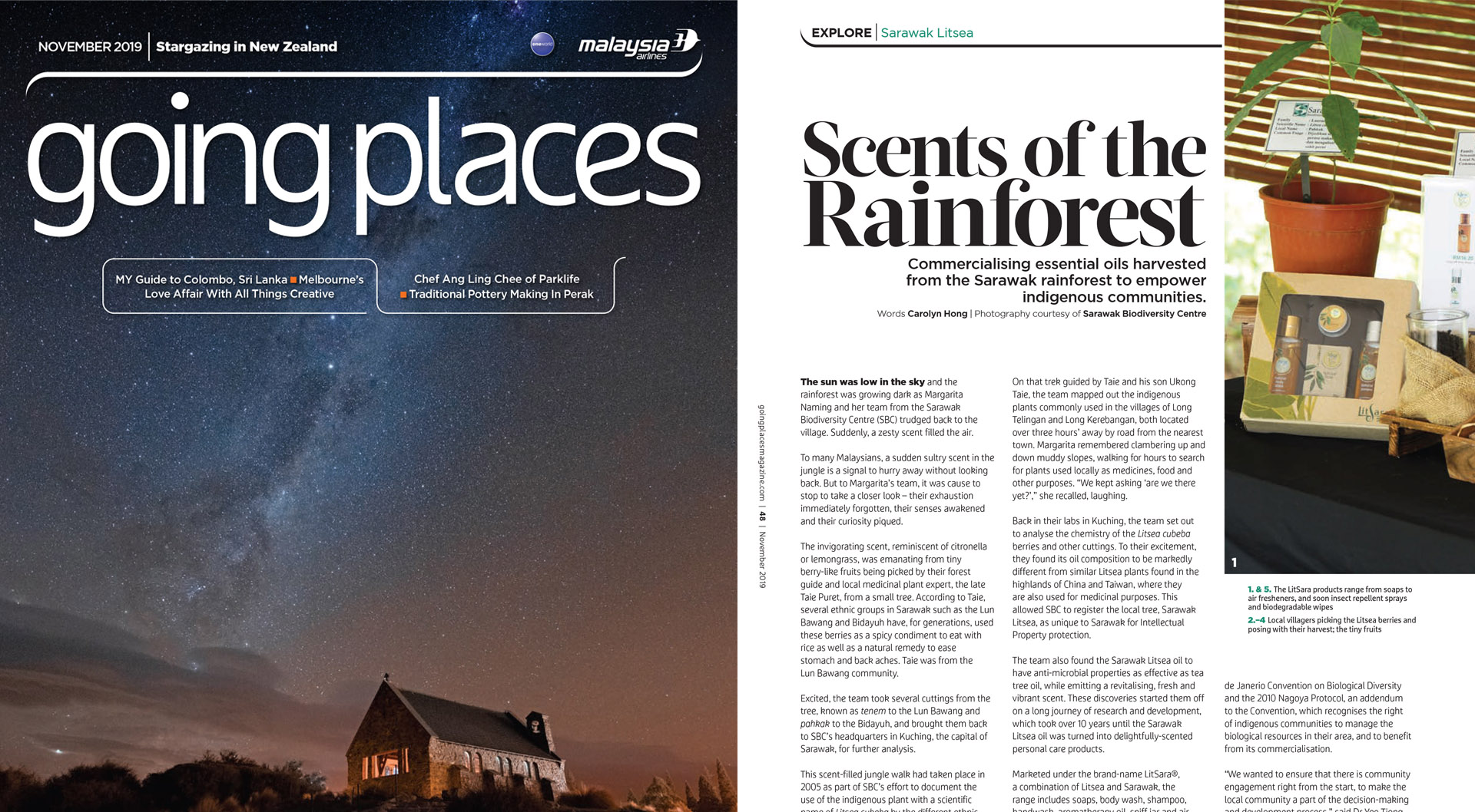 Scents of the Rainforest by Going Places Magazine November 2019
